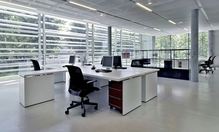 Office building with several workstations